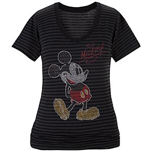Glittering Mickey Mouse Tee for Women