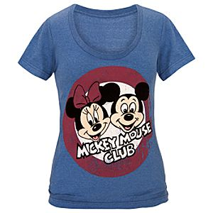 The Mickey Mouse Club Minnie and Mickey Mouse Tee for Women