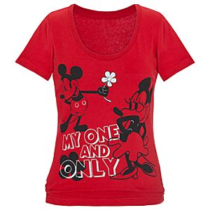 My One and Only Minnie and Mickey Mouse Tee for Women