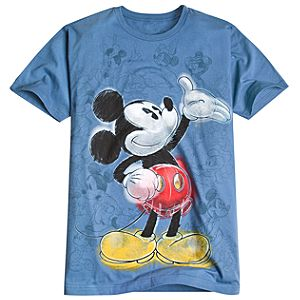 Sketch Art Mickey Mouse Tee for Men