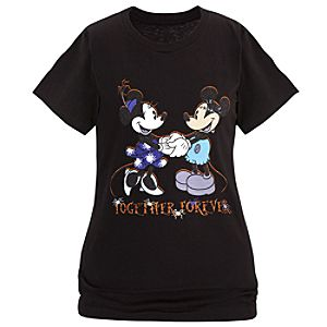 Minnie and Mickey Mouse Tee for Women - Halloween