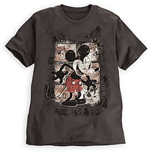 Comic Strip Mickey Mouse Tee for Men