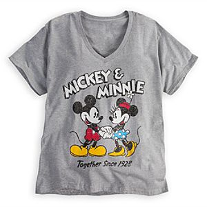 Mickey and Minnie Mouse Tee for Women -- Plus Size