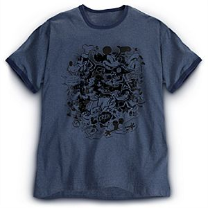 Retro Ringer Mickey Mouse Tee for Men -- Plus Size
