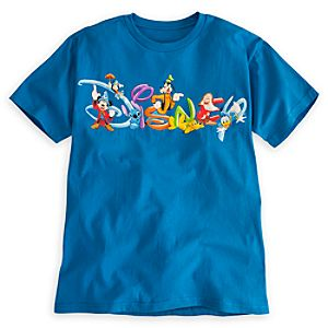 Disney Logo Tee for Men - Summer Fun