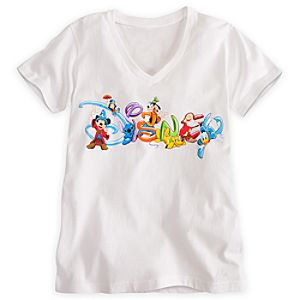 Disney Logo Tee for Women - Summer Fun