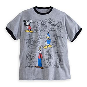 Mickey Mouse, Donald Duck, and Goofy Ringer Tee for Men