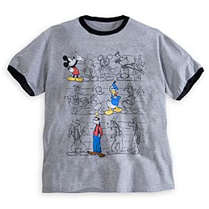 Mickey Mouse, Donald Duck, and Goofy Tee for Men - Plus Size