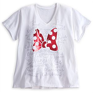 Minnie Mouse Bow Tee for Women - Plus Size