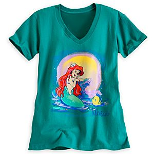 Ariel and Flounder Tee for Women
