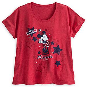 Minnie Mouse Americana Tee for Women - Plus Size