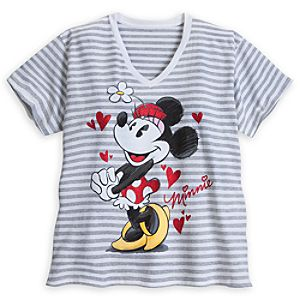 Minnie Mouse Striped Tee for Women - Plus Size
