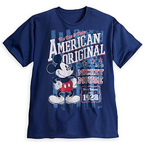 Mickey Mouse Americana Tee for Men - Plus Size