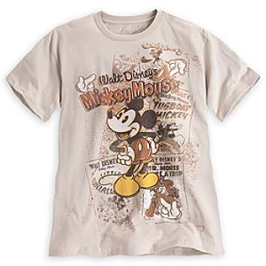 Walt Disneys Mickey Mouse Tee for Men