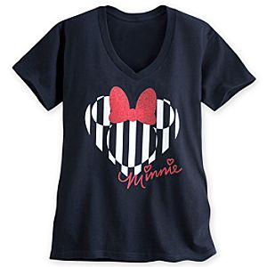 Minnie Mouse Icon Glitter Tee for Women