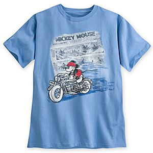 Mickey Mouse Comic Strip Tee for Men