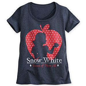 Snow White Silhouette Tee for Women - Plus Size
