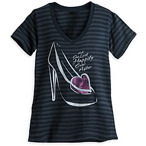 Cinderella Slipper Striped Tee for Women