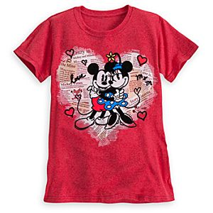 Mickey and Minnie Mouse Love Tee for Women