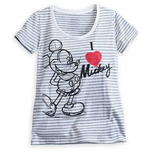 Mickey Mouse Scoop Neck Tee for Women