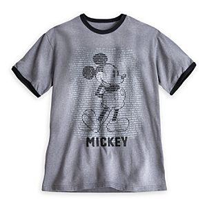 Mickey Mouse Ringer Tee for Men