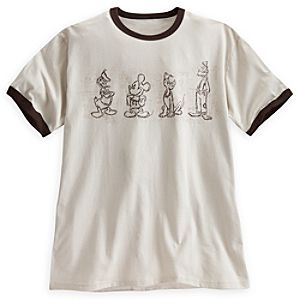 Mickey Mouse and Friends Ringer Tee for Men