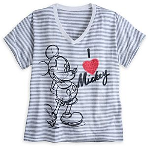 Mickey Mouse Scoop Neck Tee for Women - Plus Size