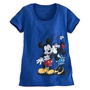 Mickey and Minnie Mouse Tee for Women