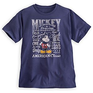 Mickey Mouse Text Tee for Men