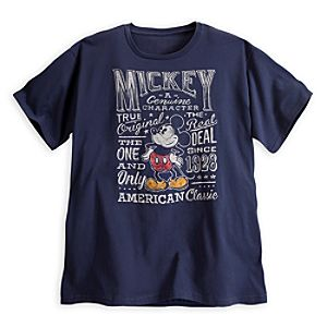 Mickey Mouse Text Tee for Men - Plus Size