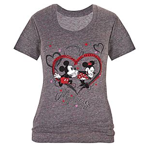 Oh Mickey Minnie and Mickey Mouse Tee for Women