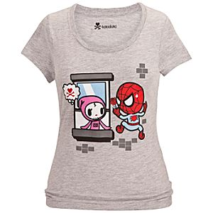 Spider Mon Amour Spider-Man Tee for Women by Tokidoki
