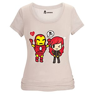 Iron Man and Black Widow Tee for Women by Tokidoki