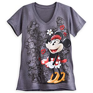 Minnie Mouse V-Neck Tee for Women