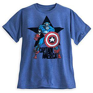Captain America Flocked Tee for Men