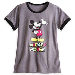 Mickey Mouse Ringer Tee for Women