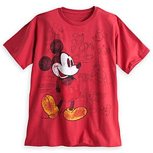 Mickey Mouse Animation Art Tee for Men