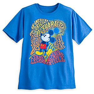 Mickey Mouse Retro Sixties Tee for Men