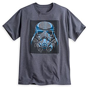 Darth Vader and Stormtrooper Op-Art Tee for Men - Star Wars