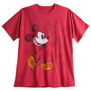Mickey Mouse Animation Art Tee for Men - Plus Size