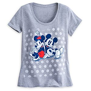 Mickey and Minnie Mouse Tee for Women - Summer Fun
