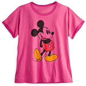Mickey Mouse Classic Ringer Tee for Women - Plus Size