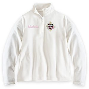Mickey and Minnie Mouse Fleece Pullover for Women - Personalizable
