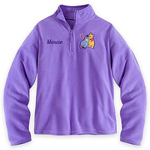Winnie the Pooh and Eeyore Fleece Pullover for Women - Personalizable