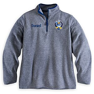 Donald Duck Fleece Pullover for Men - Personalizable