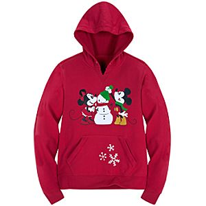 Share the Magic Fleece Minnie and Mickey Mouse Hoodie for Women
