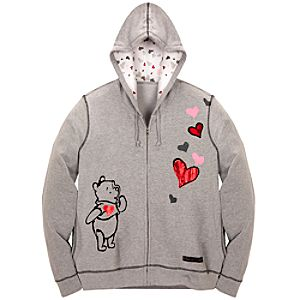 Zip Fleece Eeyore and Pooh Hoodie for Adults