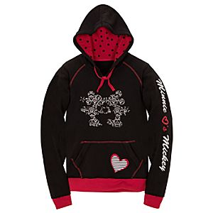 Lace Print Minnie and Mickey Mouse Hoodie For Women