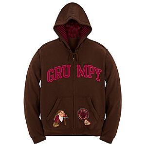 Zip Fleece Grumpy Hoodie for Men