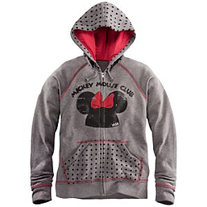 Zip Fleece The Mickey Mouse Club Minnie Mouse Hoodie for Women